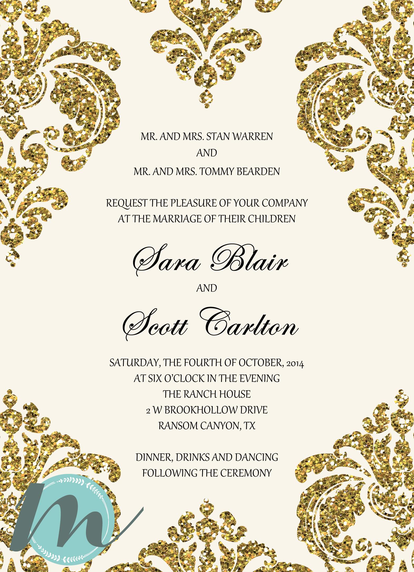 Custom Wedding Invitation Accommodation Card Merely Madison Designs