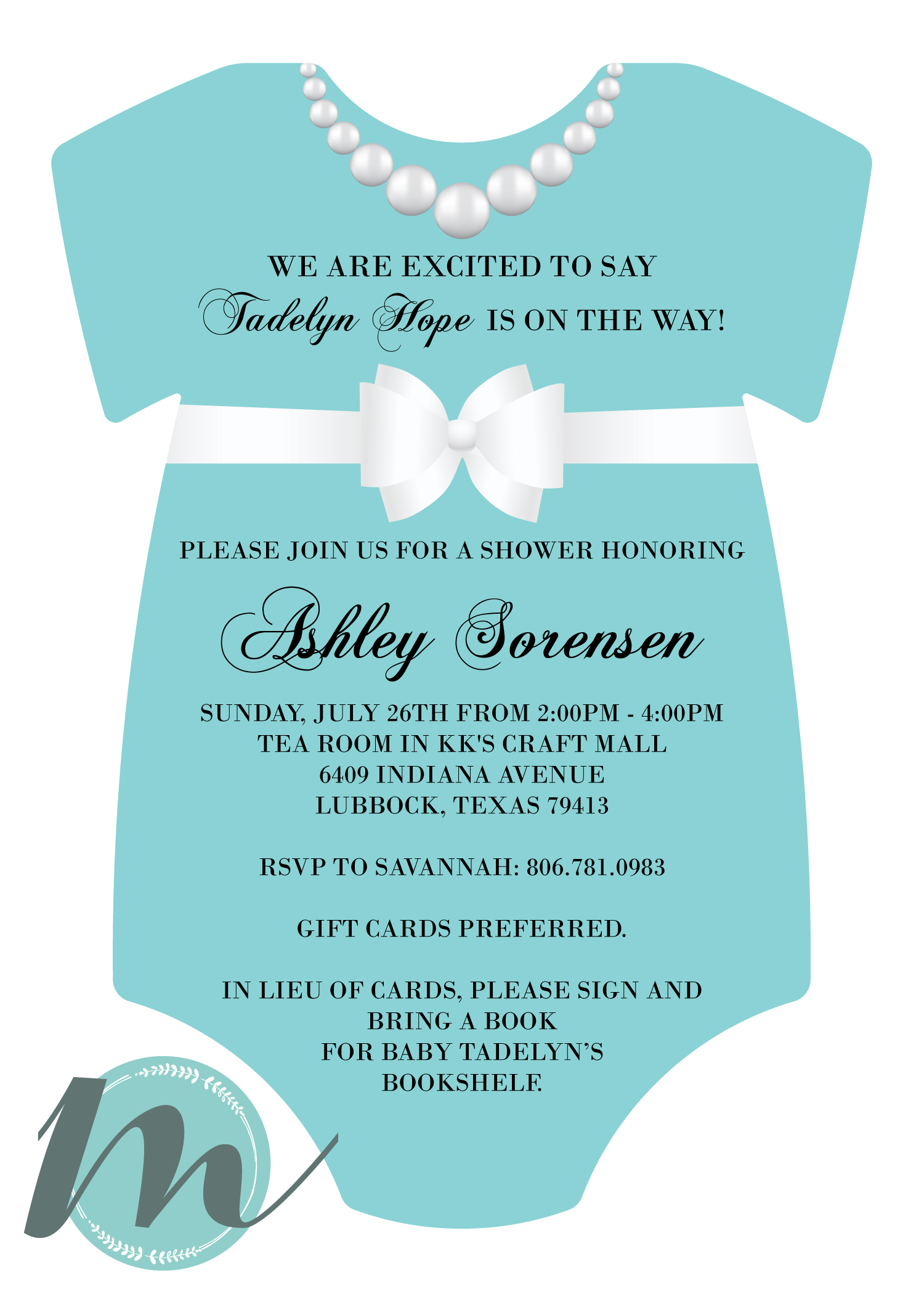 Custom baby shower invitation merely madison designs print negle Images