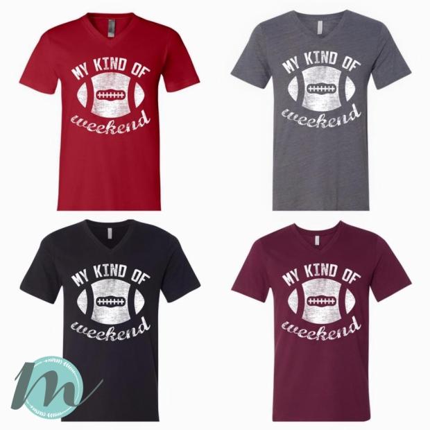 Football Tee Shirt Designs | Custom My Kind Of Weekend Football T Shirt Design For Gypsypeach